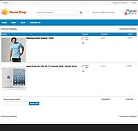 Demo Shop - Cart page screenshot
