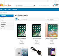 Demo Shop - ipads and tablets category page screenshot