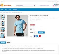 Demo Shop - Seamless short-sleeve t-shirt product detail page screenshot
